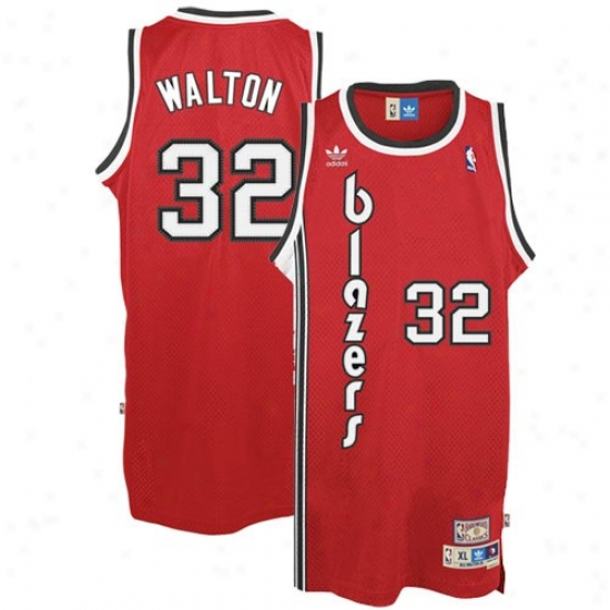 Trail Blazers Jeerseys : Adidas Trail Blazers #32 Bill Walton Red Hardwood Classic Swingman Throwback Basketball Jerseys