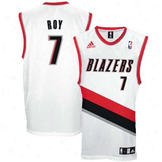 Trail Blazers Jerseys : Adidas Trail Blazers #7 Brandon Roy White Replica Basketball Jerseys