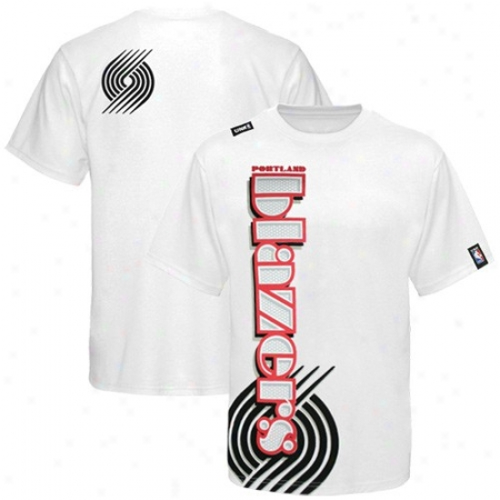 Trail Blazers Shirt : Trail Blazers Whke Dimensions Shirt