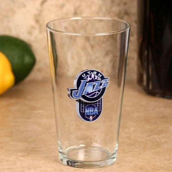 Utah Jazz 17 Oz. Enhanced Hi-def Mixing Glass