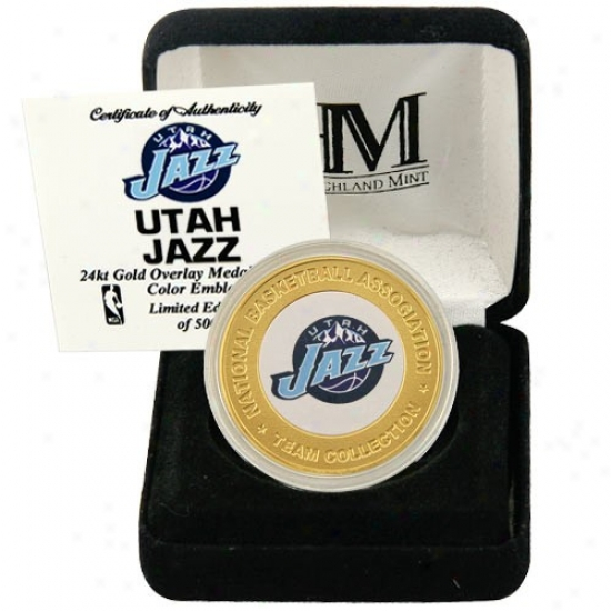 Utah Jazz 24kt Gold Team Mint Convert