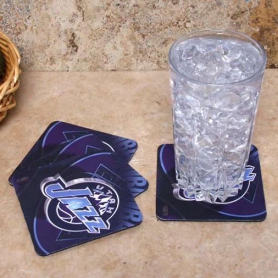 Utah Jazz 4-pack Sublimated Logo Neoprene Coaqtet Set