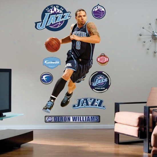 Utah Jazz #8 Deron Williams Player Fathead