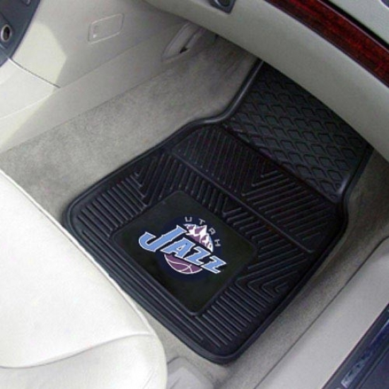 Utah Jazz Black 2-piece Vinyl Car Mat Set