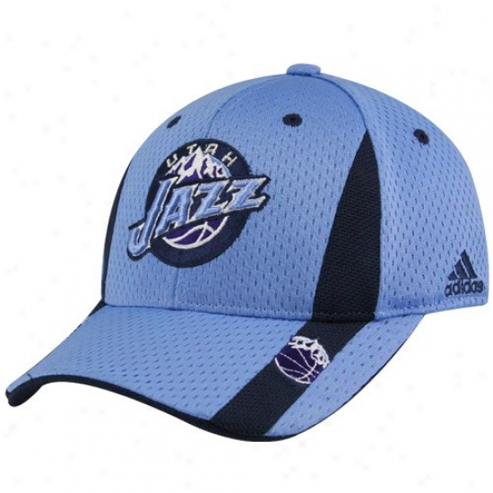 Utah Jazz Gear: Adidas Utah Jazz Youth Light Blue Swingman Flex Fit Hat