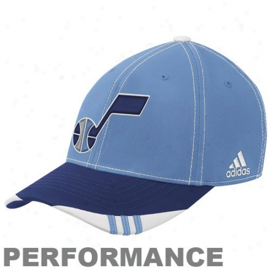Utah Jazz Hat : Adidas Utah Jazz Aspect Blue-navy Blue Official On Court Performance Flex Fit Hat
