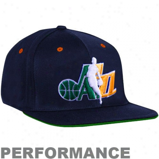Utah Jazz Hats : Adidas Utah Jazz Navy Blue Official Draf tDay Fitted Hats