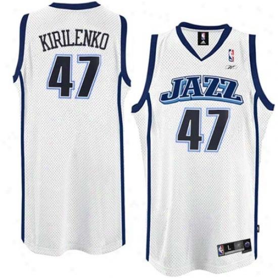 Utah Jazz Jersey : Reebok Utah Jazz #47 Andrei Kirilenko White Swingman Basketball Jersey