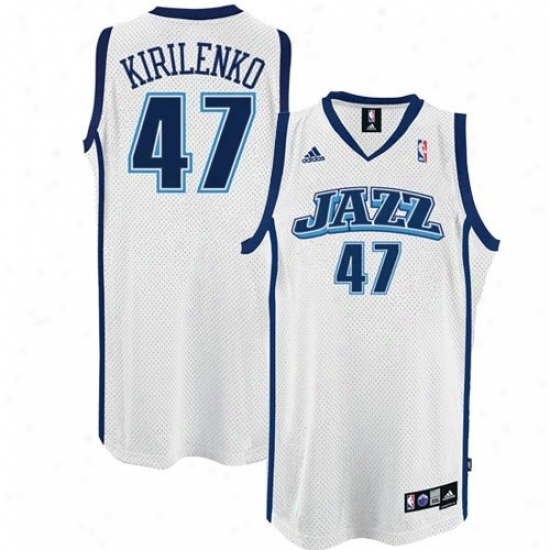 Utah Jazz Jerseys : Adidas Utah Jazz #47 Anndrei Kirilejko White Swingman Basketball Jerseys