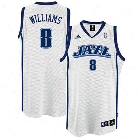 Utah Jazz Jerseys : Adidas Utah Jazz #8 Deron Williams White Seingman Basketball Jerseys