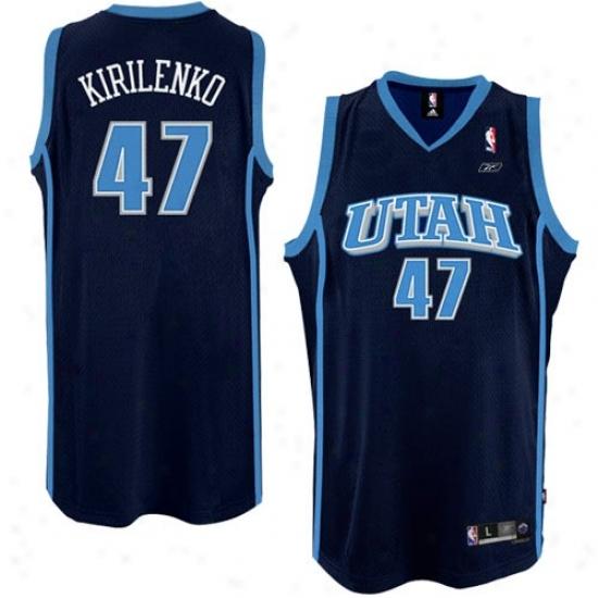 Utah Jazz Jerseys : Reebok Utah Jazz #47 Andrei Kirilenko Navy Blue Swingman Basketball Jerseys