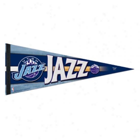 Utah Jazz Navy Blue 12'' X 30'' Premium Felt Pennant