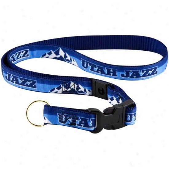 Utah Jazz Navy Blue Lanyarc