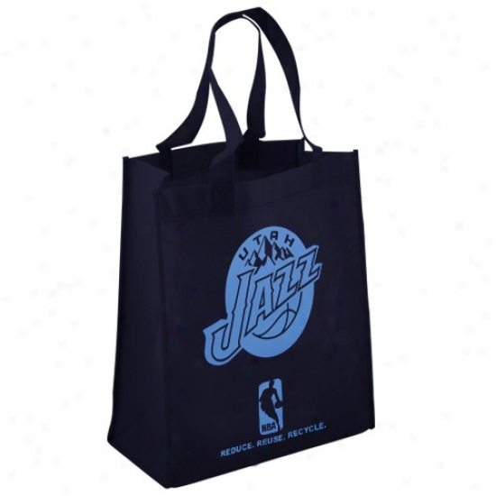 Utah Jazz Navy Blue Reusable Tote Bag