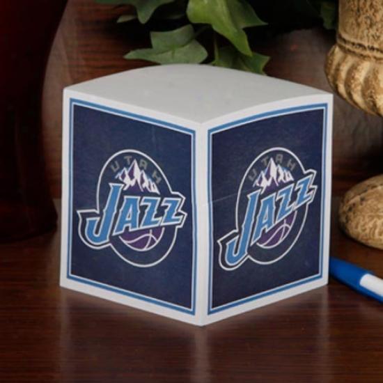 Utah Jazz Note Cube
