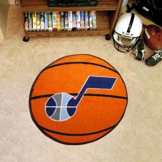Utah Jazz Orange Round Baeketball Mat