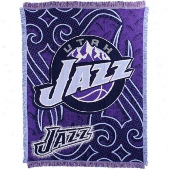 Utah Jazz Purple 48'' X 60'' Tattoo Jacquard Woven Blanket Throw