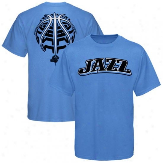 Utah Jazz Shirt : Utah Jazz Light Blue The Rock Shirt