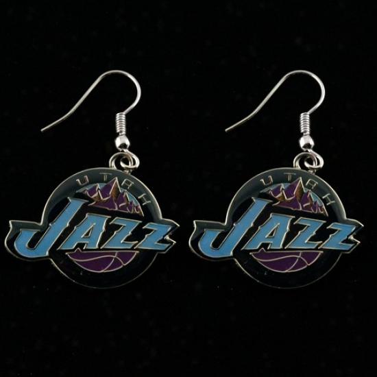 Utah Jazz Team Logo Dangle Earrings