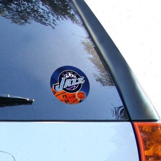 Utah Jazz Team Logo Round Vinyl Decal