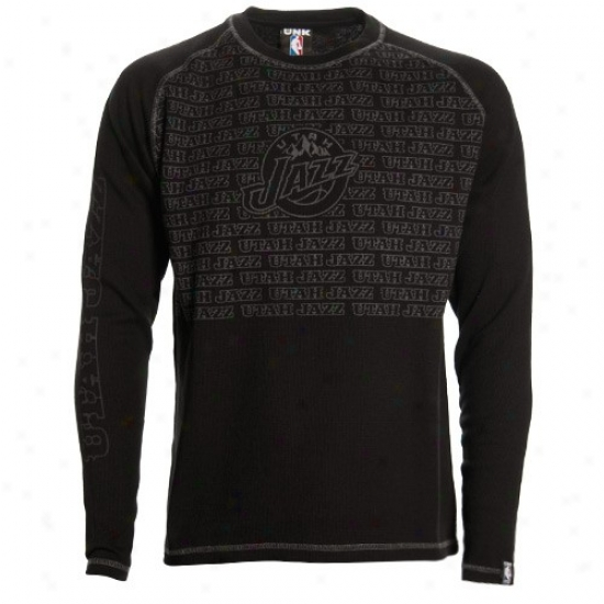 Utah Jazz Tee : Utah Jazz Mourning The Fadeaway Thermal Tee