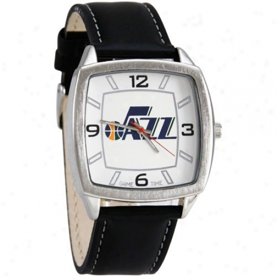 Utah Jazz Watches : Utah Jazz Retro Watches W/ Leather Band