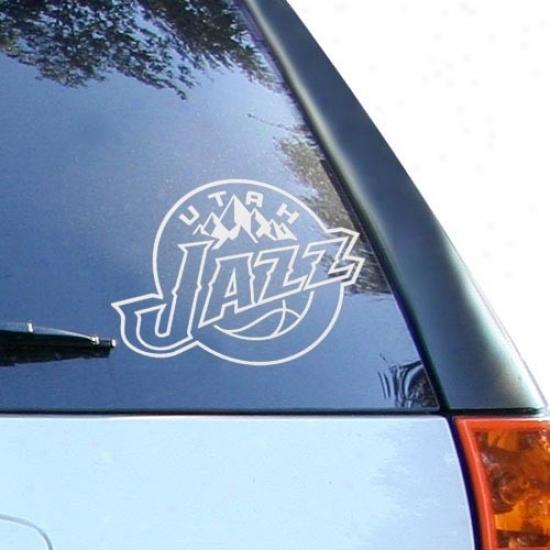 Utwh Jazz White 8'' X 8'' Logo Decal