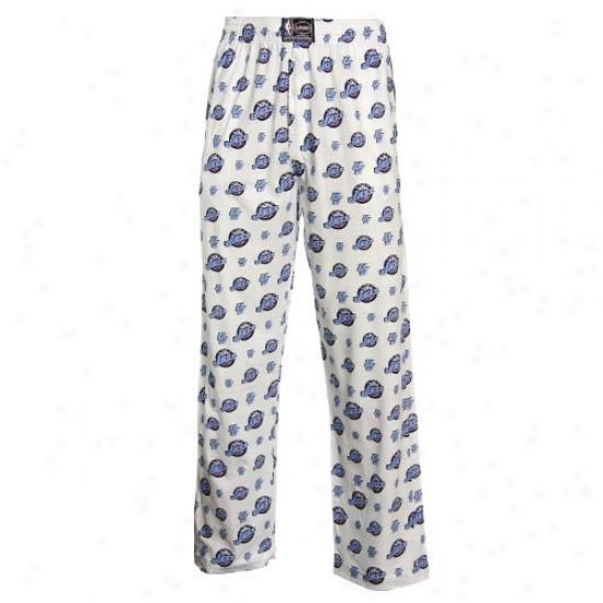 Utah Jazz White My Team Pajama Pants