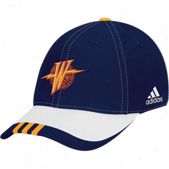 Warriors Gear: Adidas Warriors Navy Azure Youth Draft Lifetime Flex Fit Hat