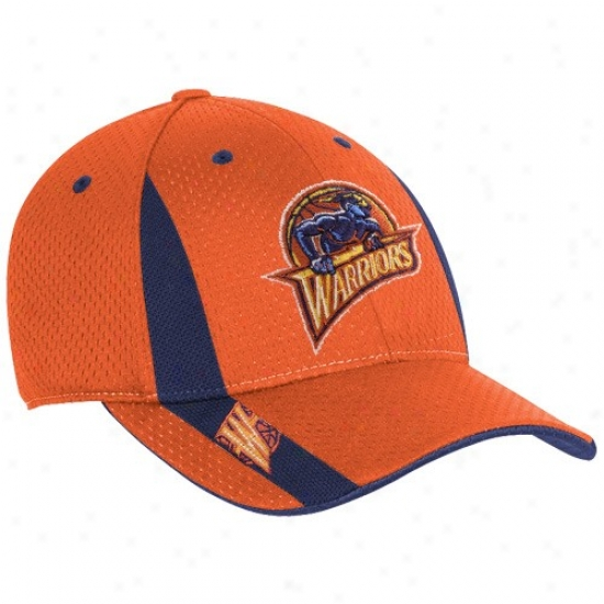 Warriors Gear: Adidas Warriors Youth Orange Swingman Flex Fit Hat