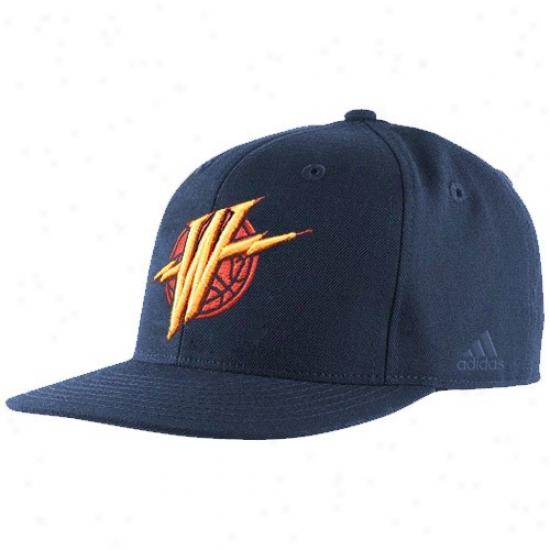 Warriors Hats : Adidas Warriors Navy Blue Bank Range Fitted Hats