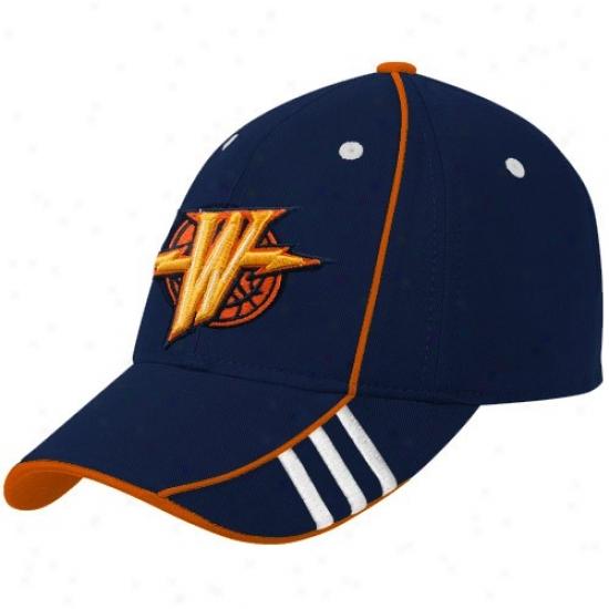 Warriors Hats : Adidas Warriors Navy Blue Official Team Adjustable Hats