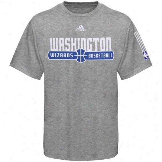 Washington Wizard Attire: Adidas Washington Wizard Ash Ball Horizon T-shirt