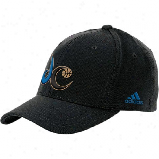 Washington Wizard Hat : Adidas Washington Wizard Black Basic Tsam Logo Flex Fit Hat