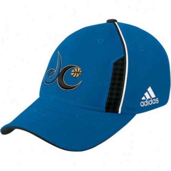 Washington Wizard Hats : Adidas Washington Wizard Light Blue Official Team Flex Fit Hats