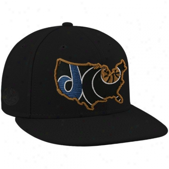 Washington Wizard Hats : New Era-espn Washington Wizard Black Insider Premium Fitted Hats