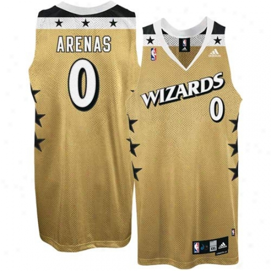 fc6c39032c3 Washington Conjurer Jersey : Adidas Wasnington Wizard #0 Gilbret Arenas  Gold 2nd Road Swingman Basketball