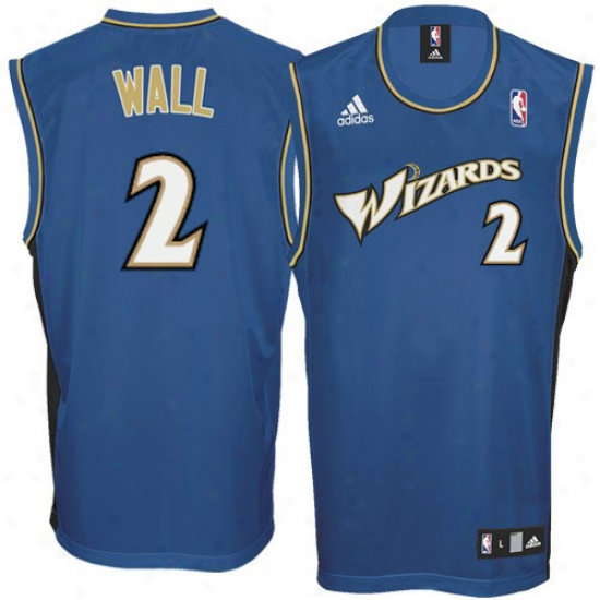 Washington Wizard Jerseys : Adidas John Walp Washington Wizard Replica Jersey-slate Blue