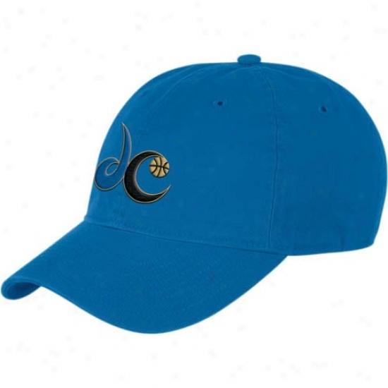 Washington Wizard Merchandise: Adidas Washington Wizard Blue Basic Logo Lubber Adjustable Hat
