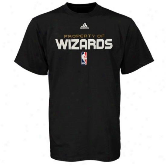 Washongton Wizard Shirt : Adidas Washington Wizard Black Property Of Shirt