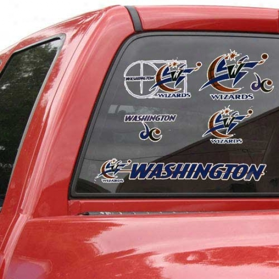 Washington Wizards 11'' X 17'' Window Clings Sheet