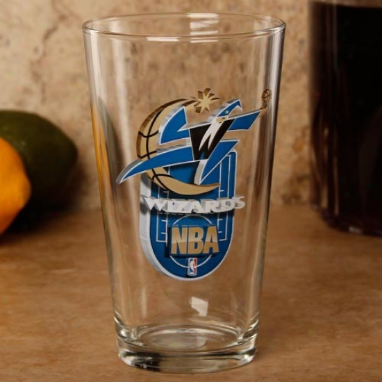 Washington Wizards 17 Oz. Enhanced Hi-def Mixing Glass
