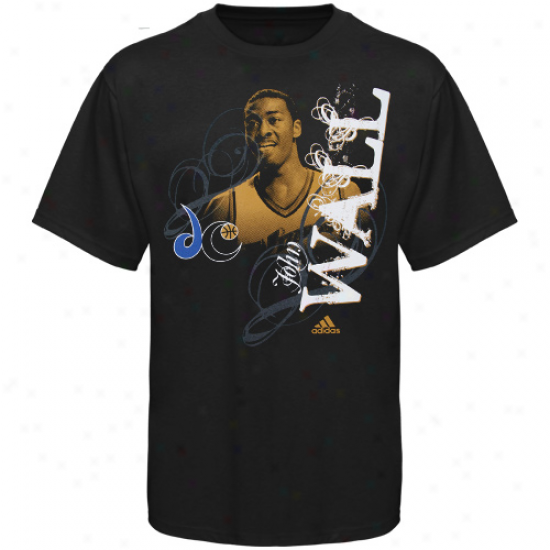 Washngton Wizards Apparel: Adidas Washington Wizards Youth Black John Wall 2010 Overall Draft Pick T-shirt