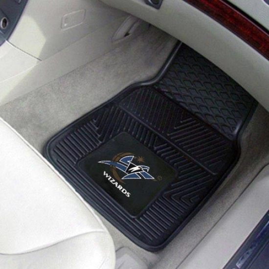 Washington Wizards Black 2-piece Vinyl Car Mat Set