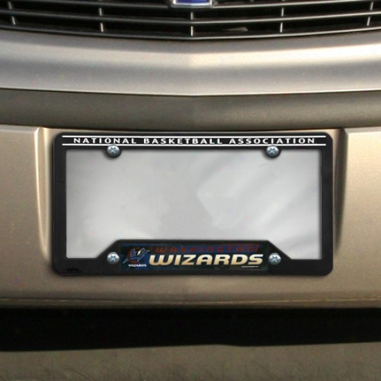 Washington Wizards Negro Plastic License Plate Frame