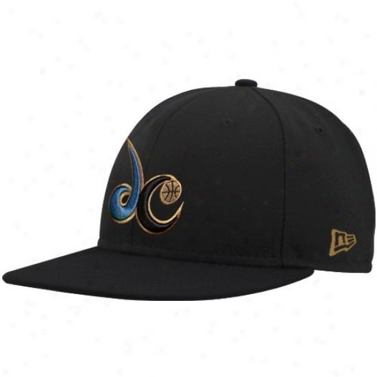Washington Wizards Caps : New Era Washington Wizards Black Logo 59fifty Fitted Caps