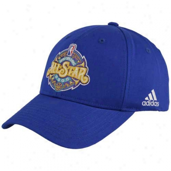 Washington Wizards Merchandise: Adidas 2008 All-star Game Structured Royal Blue Hat
