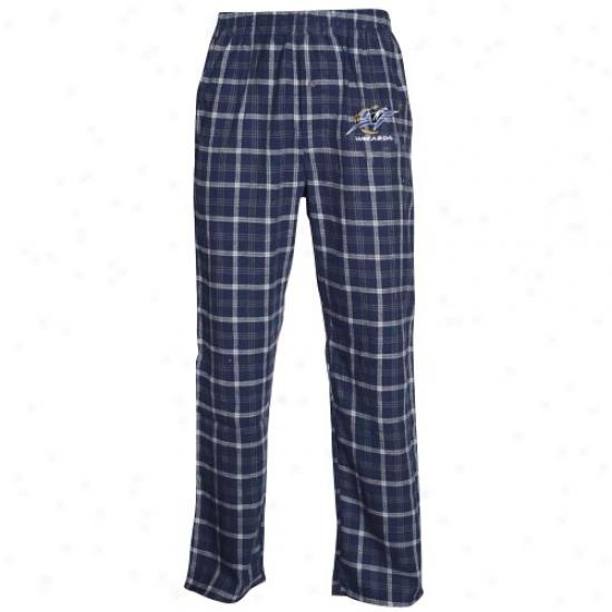 Washington Wizards Navy Blue Plaid Tailgate Flannel Pajama Pants