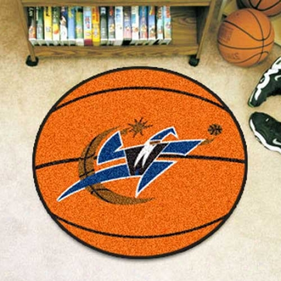 Washington Wizards Orange Round Baskerball Mat