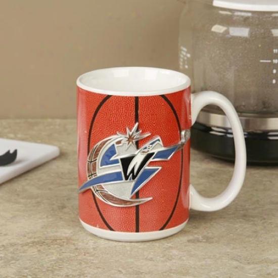 Washington Wizards Pewter Logo Baskeball Coffee Mug